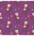 seamless pattern with baby feeding chair vector image vector image
