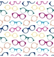 Seamless pattern with colorful retro glasses vector image vector image