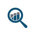 search finance logo vector image vector image