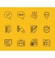 set line quiz icons vector image