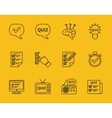 Set of line quiz icons vector image vector image
