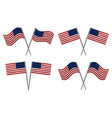 set of two usa flags vector image vector image