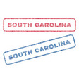 south carolina textile stamps vector image