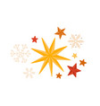 stars and snowflakes winter season decorations vector image vector image