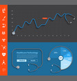 stethoscope design dashboard template with graphs vector image vector image