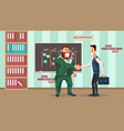 successful job interview office worker handshake vector image vector image