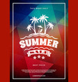 Summer sale flyer or poster summer discount label