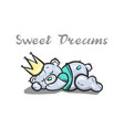 sweet dreams bear vector image