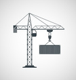 The crane lifts the container vector image vector image