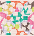 tissue abstract print with geometric shapes vector image vector image