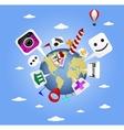 Travel icon concept vector image vector image