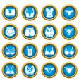underwear types icons set simple style vector image vector image