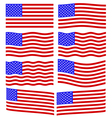 USA flag set vector image vector image