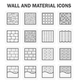 Wall icon vector image vector image