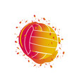 watercolor effect of a volleyball ball vector image