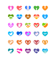 web and computing icons as hearts vector image