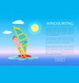 windsurfing web poster summer sport activity sea vector image vector image
