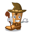 witch old cowboy boots in shape character vector image vector image