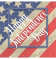 Independence day typographic element vector image
