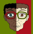 two faces vector image