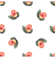 Colorful Watercolor Floral Background Seamless vector image