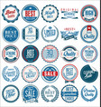 retro vintage badges collection 1 vector image