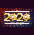 2020 happy new year holiday elegant poster vector image
