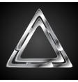 Abstract metallic triangle logo design template vector image vector image