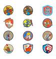 animal tradesman mascot set collection vector image vector image