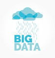 big data cloud vector image vector image