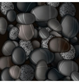 Black pebble stones background vector image vector image