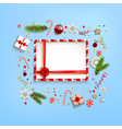 blue holiday backdrop and copy space vector image vector image