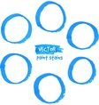 Blue marker paint circles set vector image vector image