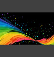 bright curve abstraction on black background vector image vector image