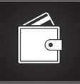 business plastic card icon on black background for vector image