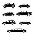 Cars silhouettes collection vector image vector image
