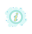 cartoon colored information icon in comic style vector image
