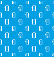 charger pattern seamless blue vector image vector image