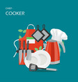 chief-cooker concept flat style design vector image