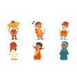 children in national costumes from different vector image vector image