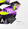 colorful triangle mosaic 3d geometric object with vector image vector image
