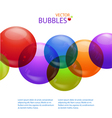 colourful bubble background vector image vector image