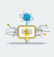 communication technology concept speech bubble vector image vector image