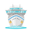 cruise ship - front view vector image vector image