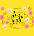 easter egg hunt flyer invitation vector image vector image