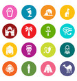 egypt travel icons set colorful circles vector image vector image
