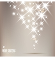 elegant christmas background with shiny stars and vector image vector image