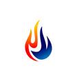gas oil logo drop natural logo concept design tem vector image