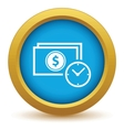 Gold buck time icon