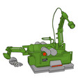 green engineering machine on white background vector image vector image
